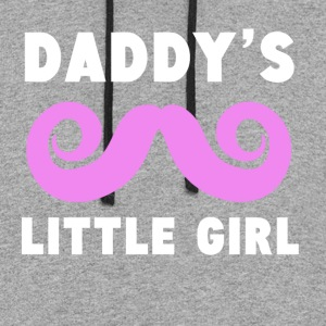Daddy's Little Girl Mustache - Colorblock Hoodie