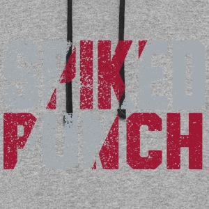 Volleyball Team Spiked Punch Design by CW Design - Colorblock Hoodie