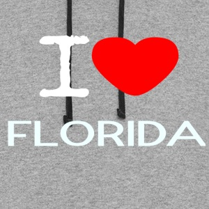I LOVE FLORIDA - Colorblock Hoodie