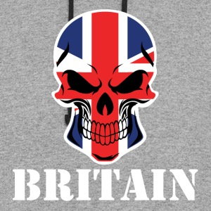 British Flag Skull Britain - Colorblock Hoodie