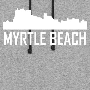 Myrtle Beach South Carolina City Skyline - Colorblock Hoodie
