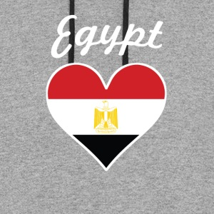 Egypt Flag Heart - Colorblock Hoodie