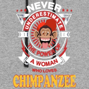A Woman Loves Chimpanzee - Colorblock Hoodie