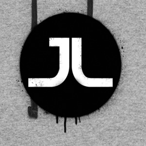 JL BLACK PAINT SPLATTER - Colorblock Hoodie