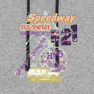 speedway out - Colorblock Hoodie
