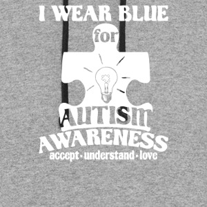 BLUE FOR AUTISM - Colorblock Hoodie