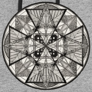 Mandala The Power of potency - Colorblock Hoodie