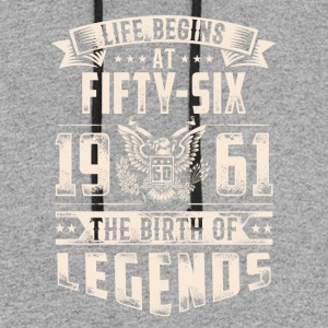 Life Begins At Fifty Six tshirt - Colorblock Hoodie