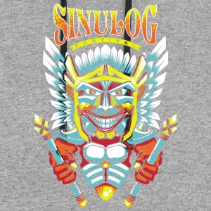 Sinulog Shirt souvenir from Cebu, Philippines - Colorblock Hoodie