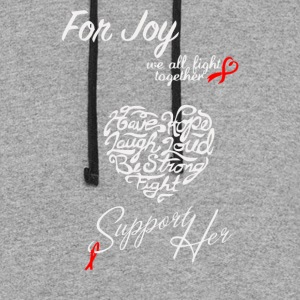 Support Joy in her Fight Against Cancer - Colorblock Hoodie