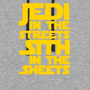 Jedi in the Streets Sith in the Sheets - Colorblock Hoodie