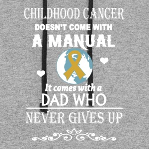 Childhood Cancer Dad Shirt - Colorblock Hoodie
