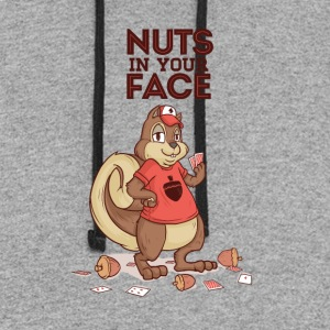 Nuts in your face shirt - Colorblock Hoodie