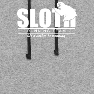 Sloth Running Team - Colorblock Hoodie