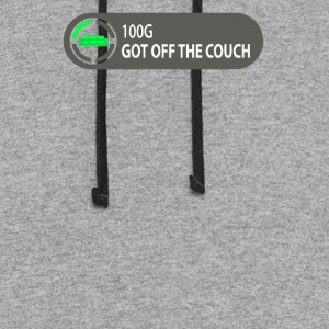 Achievement Unlocked Got Off Couch Video Game - Colorblock Hoodie