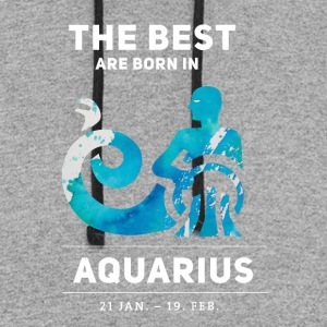 aquarius horoscope januar birthday astrology previ - Colorblock Hoodie