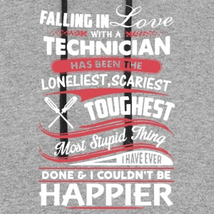 Falling In Love With A Technician Tee Shirt - Colorblock Hoodie