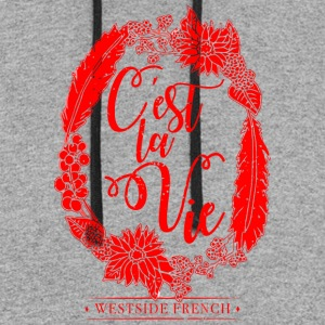 C est La Vie WESTSIDE FRENCH - Colorblock Hoodie