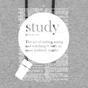 Study fun definition - Colorblock Hoodie