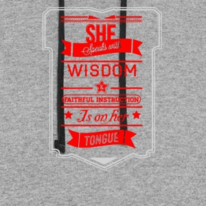 She speaks with wisdom - Colorblock Hoodie