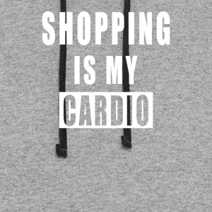 Shopping Is My Cardio - Colorblock Hoodie