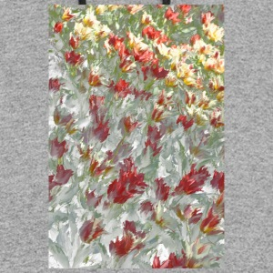 Impressionistic Tulips - Colorblock Hoodie