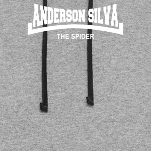 Anderson The Spider Silva Slogan - Colorblock Hoodie