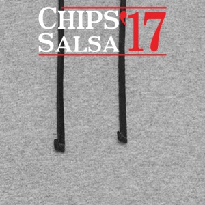 Chips salsa 17 funny - Colorblock Hoodie