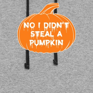 Halloween No I Did not Steal A Pumpkin Funny - Colorblock Hoodie
