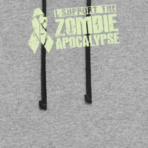 I Support The Zombie Apocalypse - Colorblock Hoodie