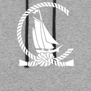 Sailboat In An Open - Colorblock Hoodie