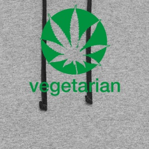 Vegetarian Sweet Leaf - Colorblock Hoodie