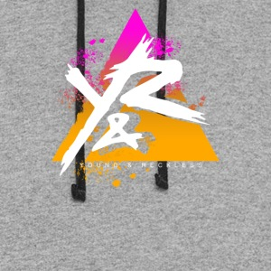 Young Reckless Pyramid Gradient Abstract - Colorblock Hoodie