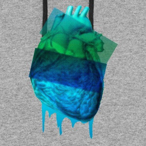 Heart organ, cardiac - Colorblock Hoodie