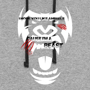 I hope you Like Animals, Because I'm a BEAST - Colorblock Hoodie