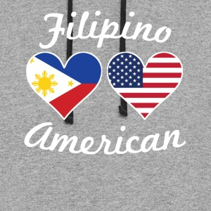 Filipino American Flag Hearts - Colorblock Hoodie