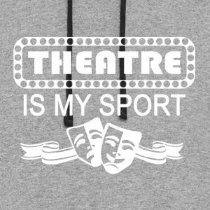 Theatre Is My Sport. white - Colorblock Hoodie