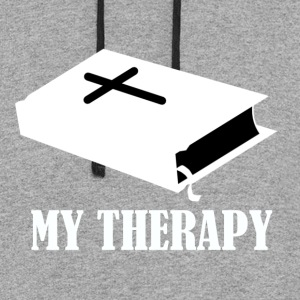 Reading the Bible is my therapy - Colorblock Hoodie