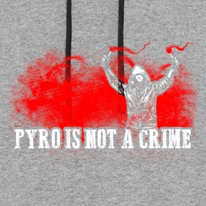 ACAB Pyro is not a crime - Colorblock Hoodie