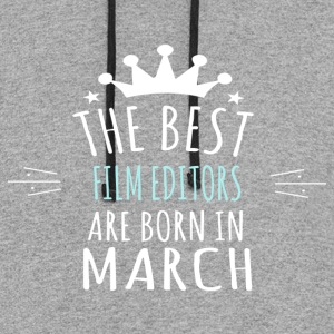 Best FILM_EDITORS are born in march - Colorblock Hoodie