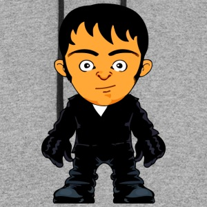 Little Gangster Crime Avatar Comic Style - Colorblock Hoodie