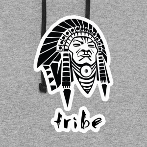 Tribe (Native American w/Outline) - Colorblock Hoodie