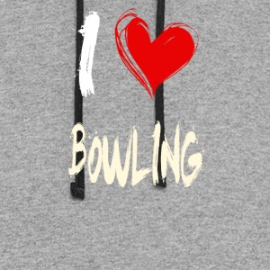 I love BOWLING - Colorblock Hoodie