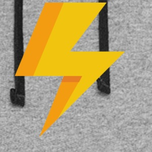 lightning icon - Colorblock Hoodie