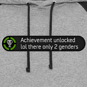 Xbox achievement - lol there are only 2 genders - Colorblock Hoodie