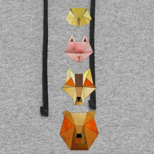 Geometric forest animals - Colorblock Hoodie