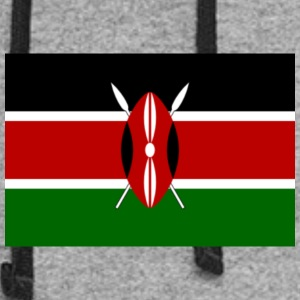 kenyan flag graphic - Colorblock Hoodie