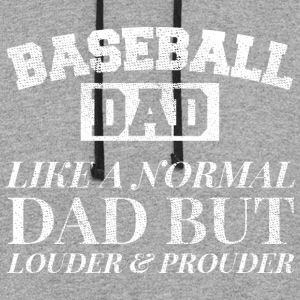 Loud and Proud Baseball Dad Tee Shirt Louder and P - Colorblock Hoodie