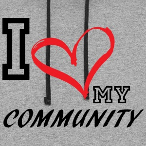 I_LOVE_MY_COMMUNITY - Colorblock Hoodie