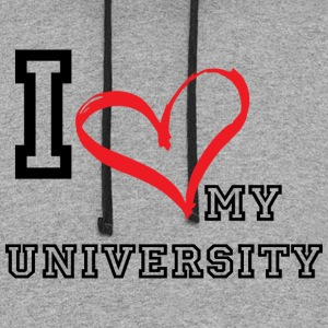 I_LOVE_MY_UNIVERSITY - Colorblock Hoodie